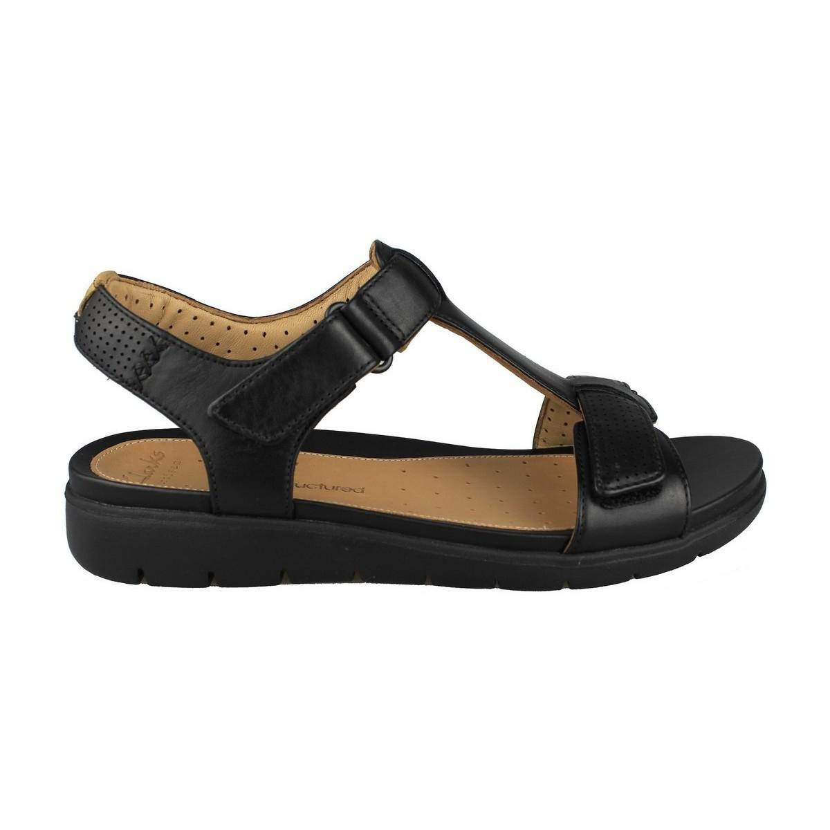 2a7b87f1d69 Clarks Sandals Unstructured A Haywood Women s Sandals In Black in ...