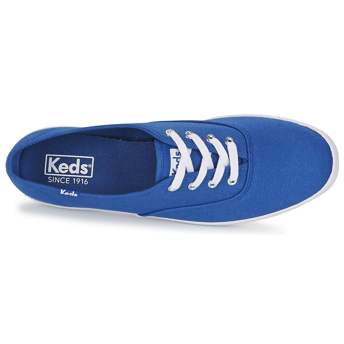 2c9954ee55b Keds Champion Seasonal Solids Women s Shoes (trainers) In Blue in Blue -  Lyst