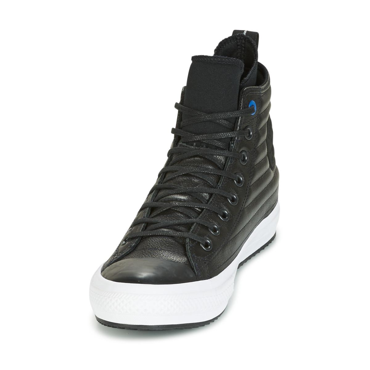 Converse - Chuck Taylor Wp Boot Quilted Leather Hi Black blue Jay white  Shoes. View fullscreen b2243124a