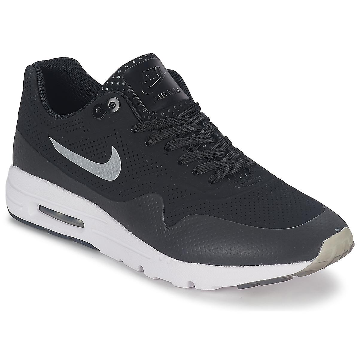 huge discount 47c6e d5c39 Nike - Air Max 1 Ultra Moire Women s Shoes (trainers) In Black - Lyst. View  fullscreen