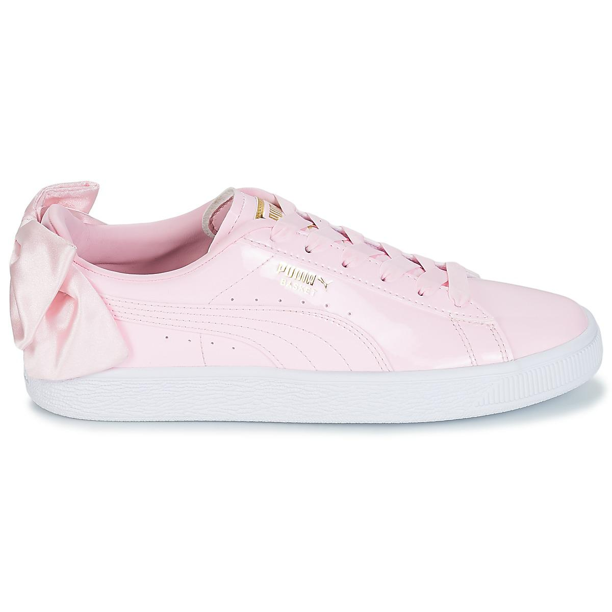 PUMA Wn Suede Bow Patent.cradle Women s Shoes (trainers) In Pink in ... 6edf27dfd