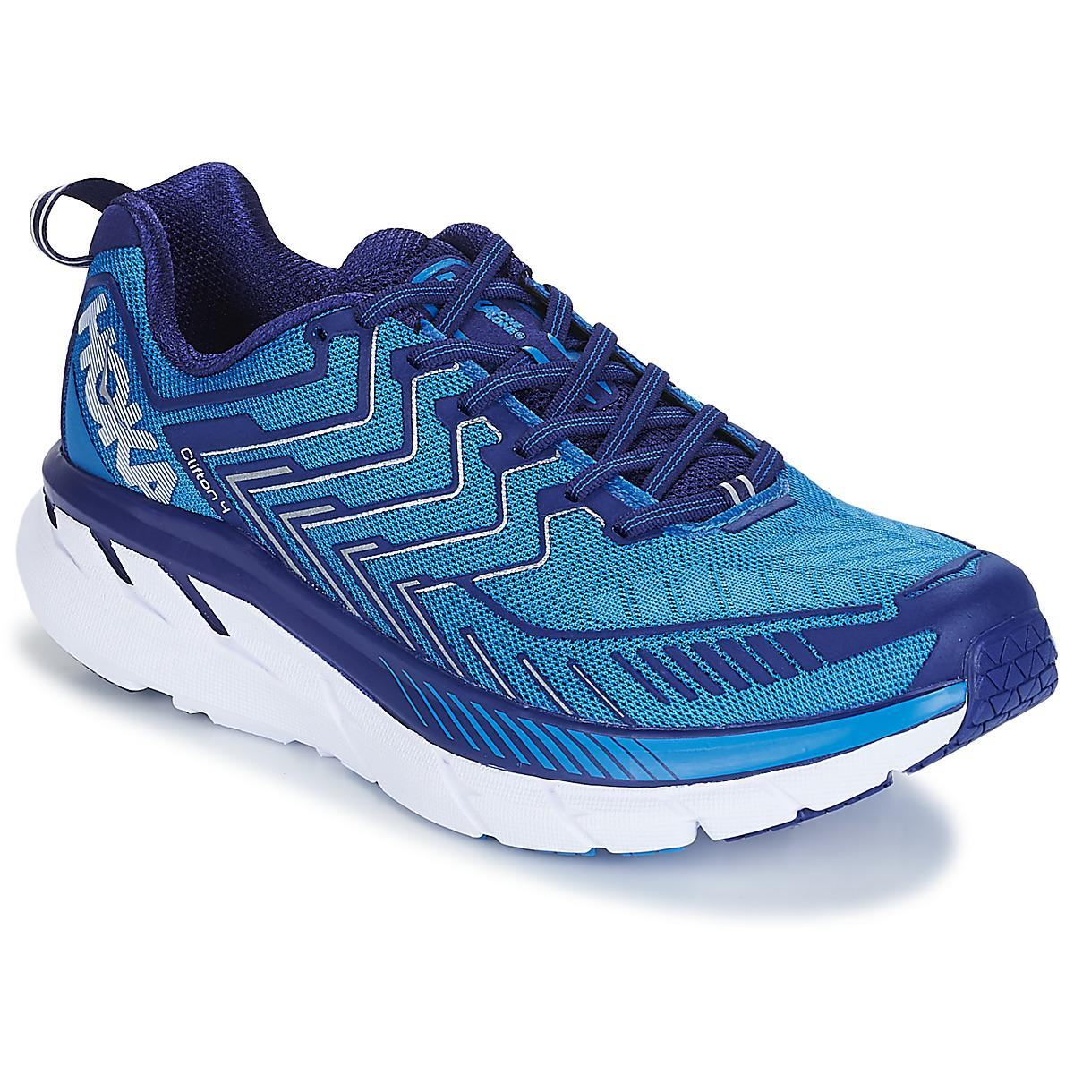 Latest Hoka One One Clifton 4 Blue Sports Shoes for Men Sale