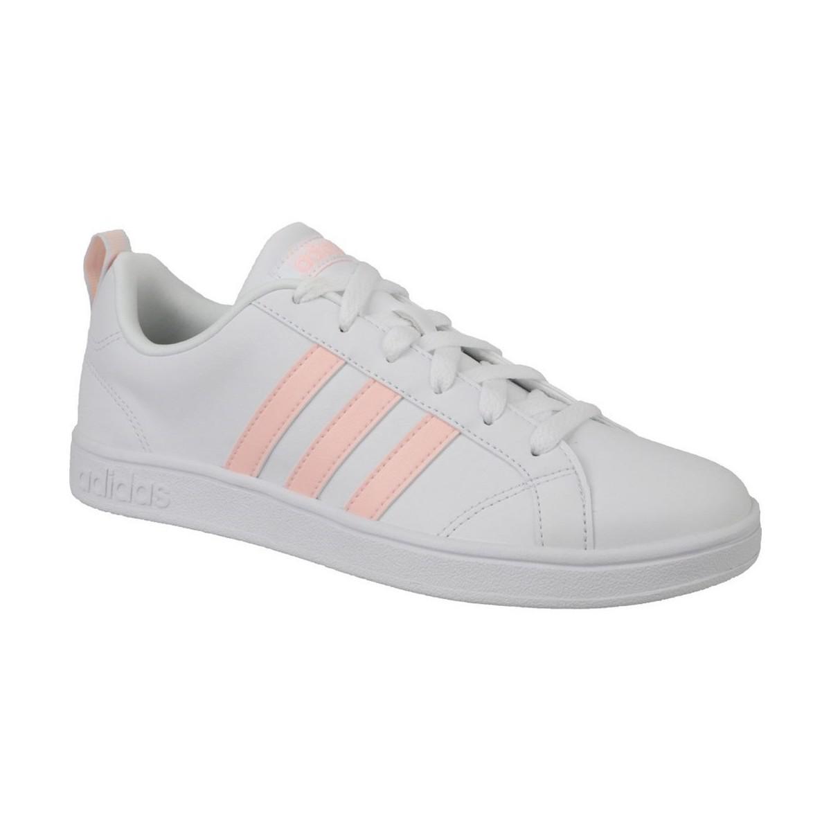 adidas vs vantaggio w scarpe da donna (formatori) in bianco in bianco lyst