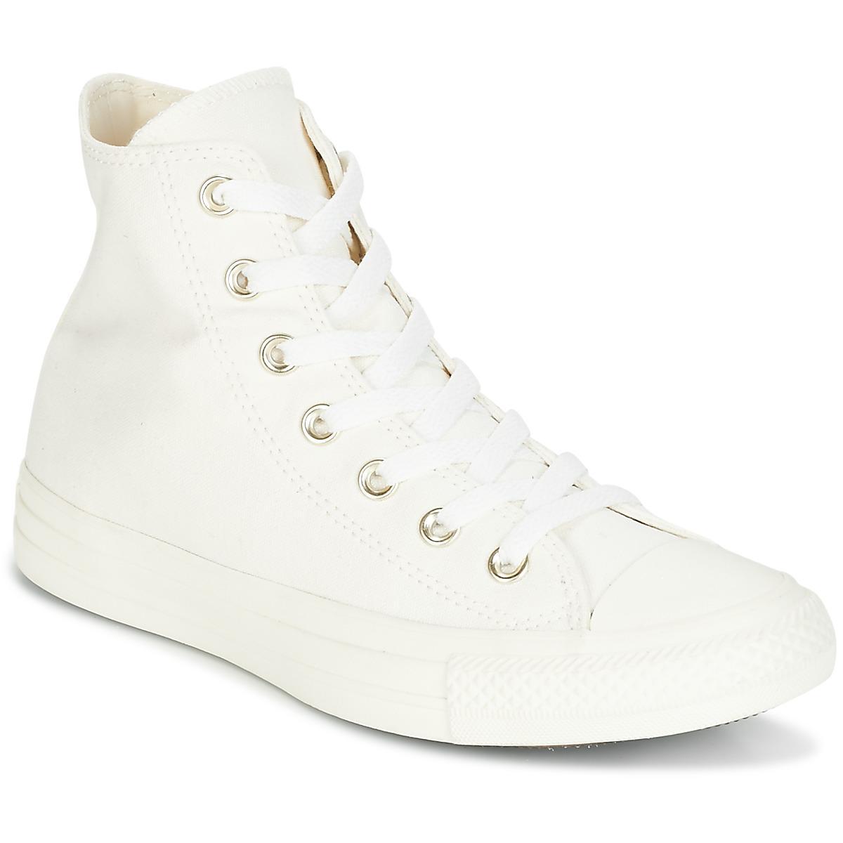 ca43988e4cea Converse - Natural Chuck Taylor All Star Hi Mono Glam Canvas Color Women s  Shoes (high. View fullscreen
