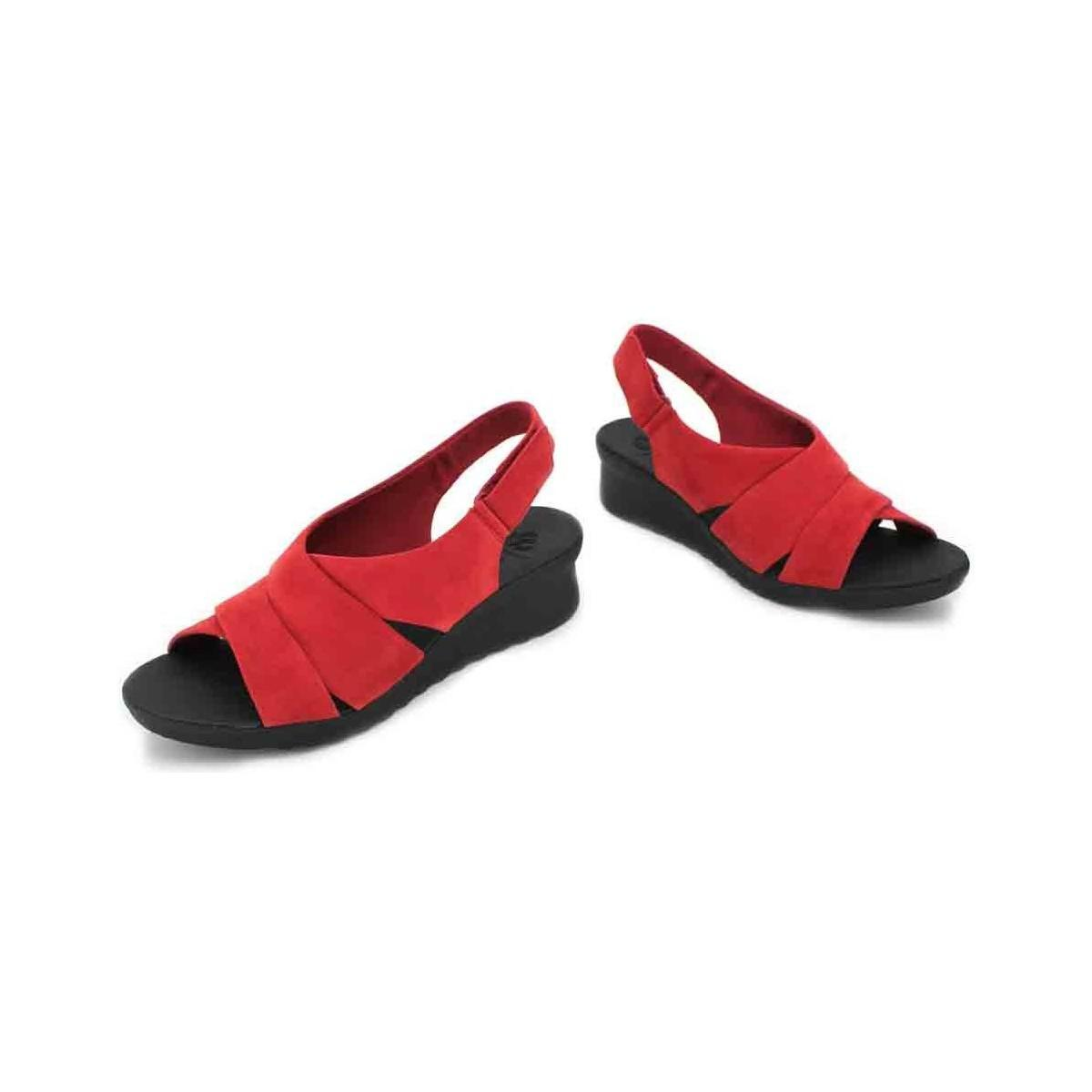 fc1bcd53a988 Clarks - Caddell Petal Women s Sandals Women s Sandals In Red - Lyst. View  fullscreen