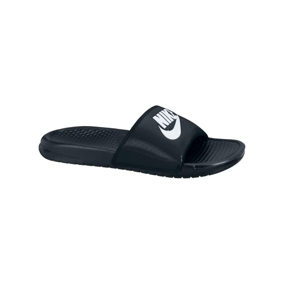 8f9f1e268 Nike Benassi Jdi 343880 090 Men s Mules   Casual Shoes In Black in ...