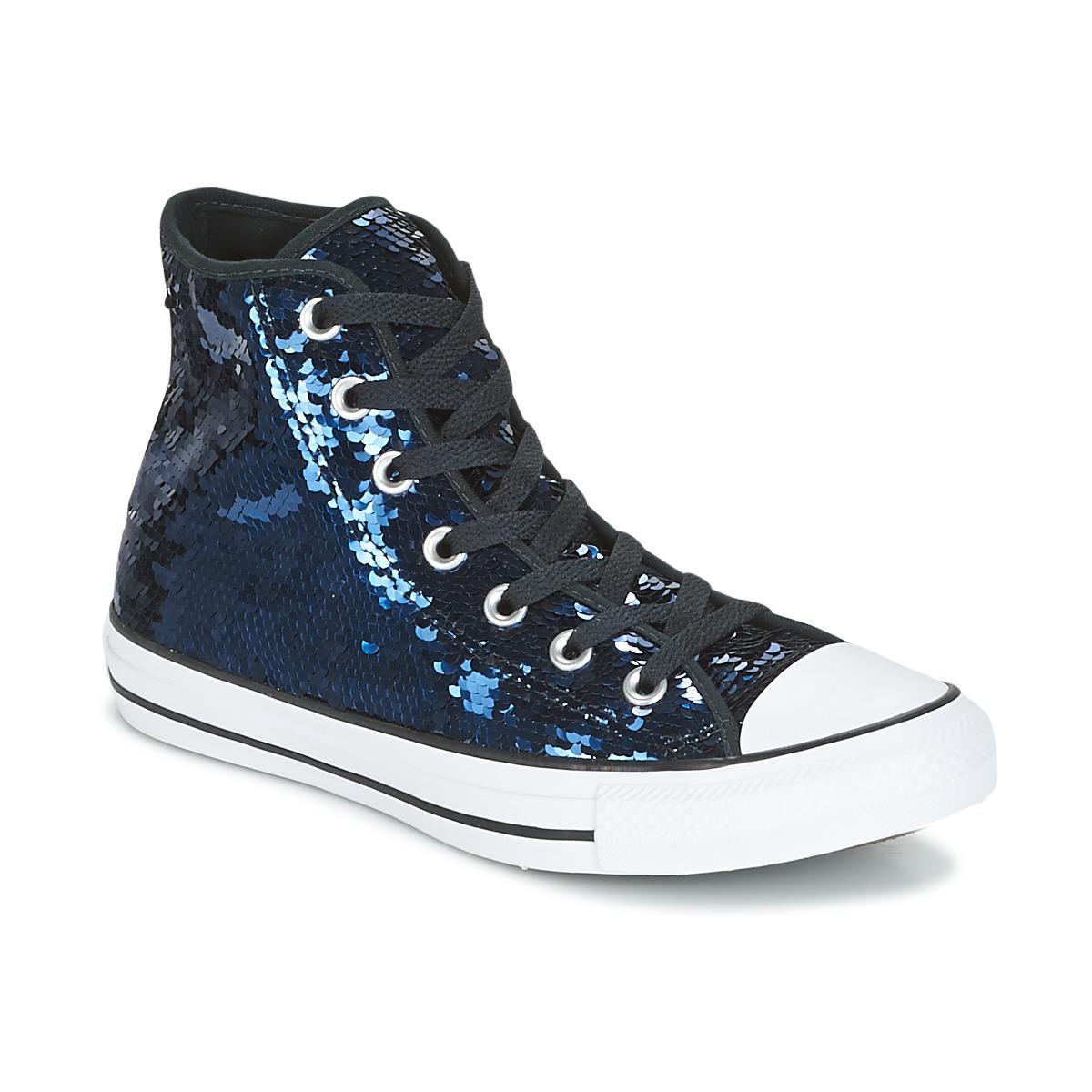 888e929d8276 Converse Chuck Taylor All Star Sequins Hi Midnight Indigo black ...