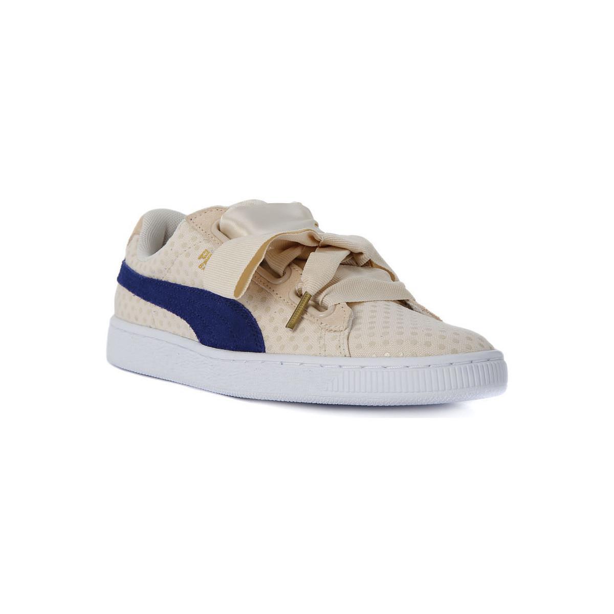 online store eb155 ada83 PUMA Basket Heart Denim Women's Shoes (trainers) In Blue in ...