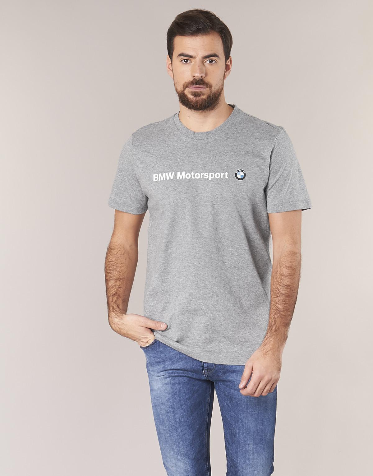 1b29eb27093 PUMA Bmw Msp Logo Tee Men's T Shirt In Grey in Gray for Men - Lyst