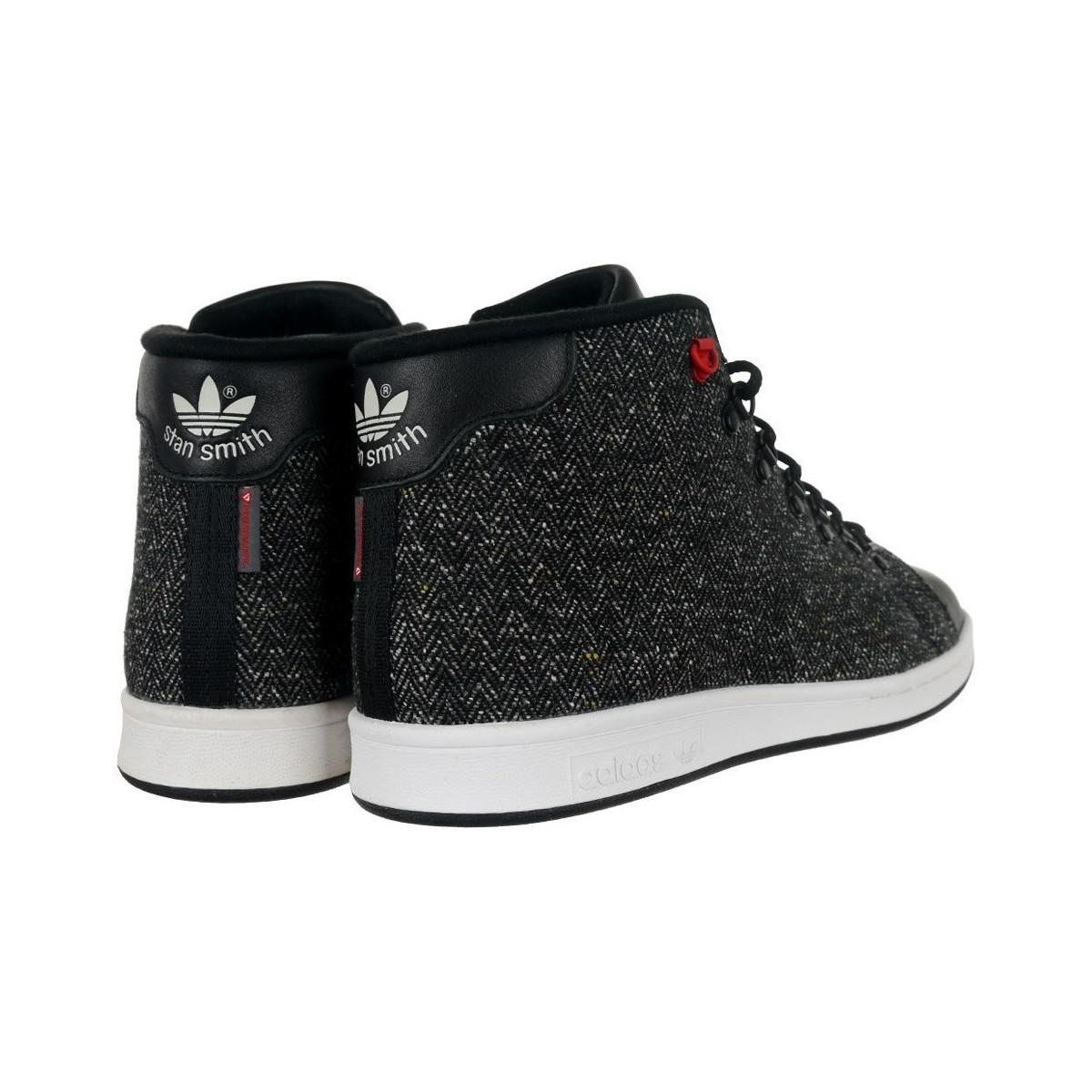 db8e338aad5263 adidas Stan Smith Winter Men s Shoes (high-top Trainers) In Black in ...