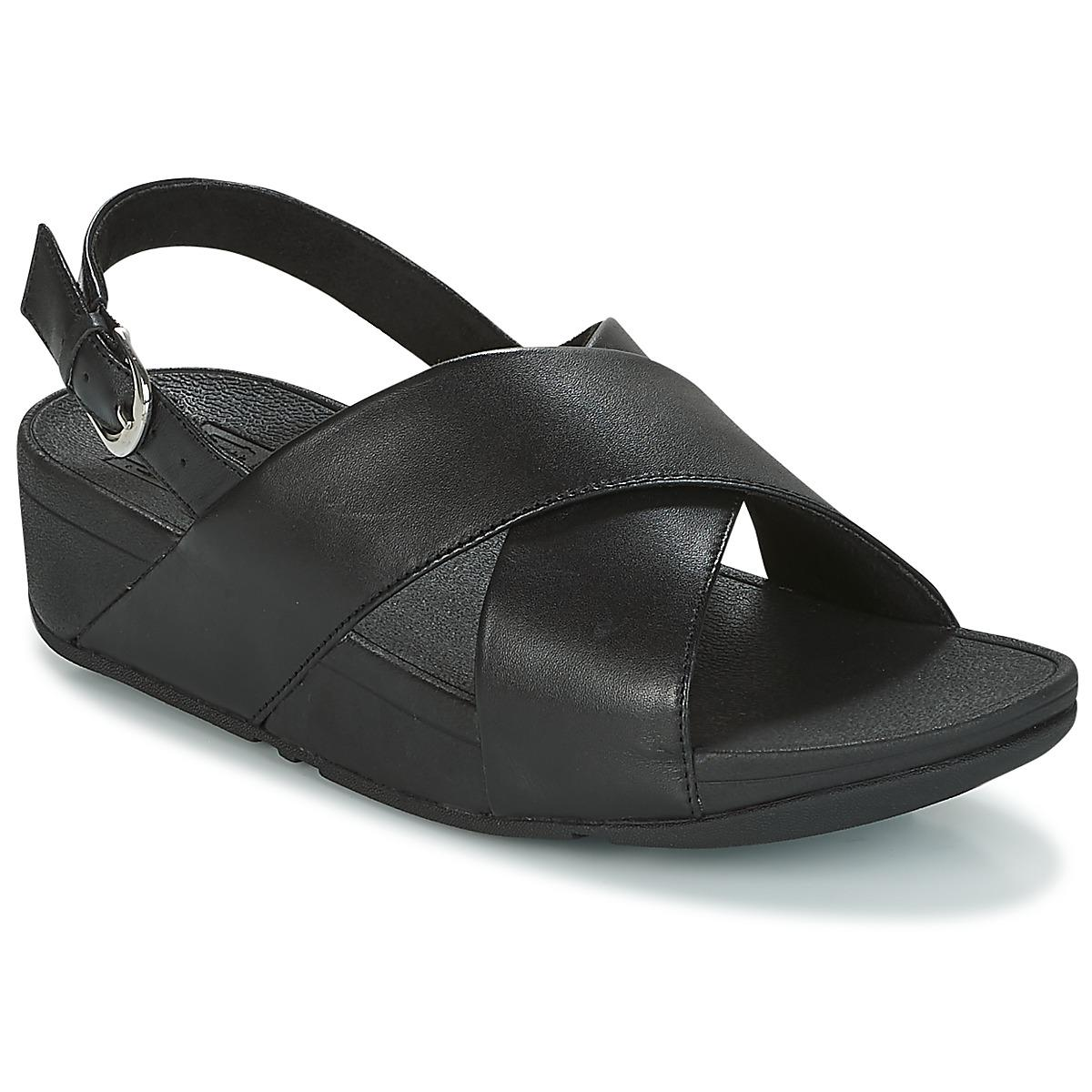 a238208362f7 Fitflop. Women s Black Lulu Cross Back-strap Sandals - Leather Sandals