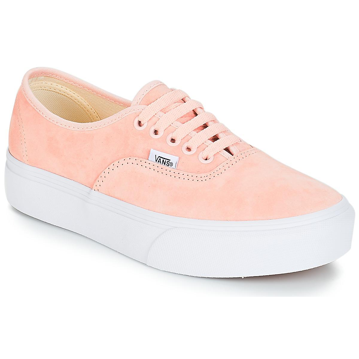 e66bcaa47a443 Vans Authentic Platform 2.0 Women s Shoes (trainers) In Pink in Pink ...