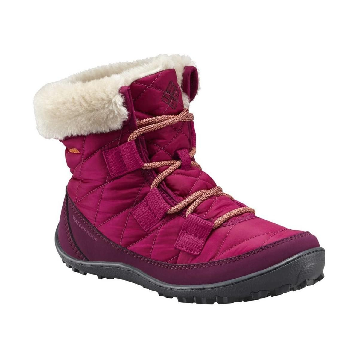 c0c4a907dcd955 Columbia Youth Minx Shorty Omniheat Women's Snow Boots In Pink in ...