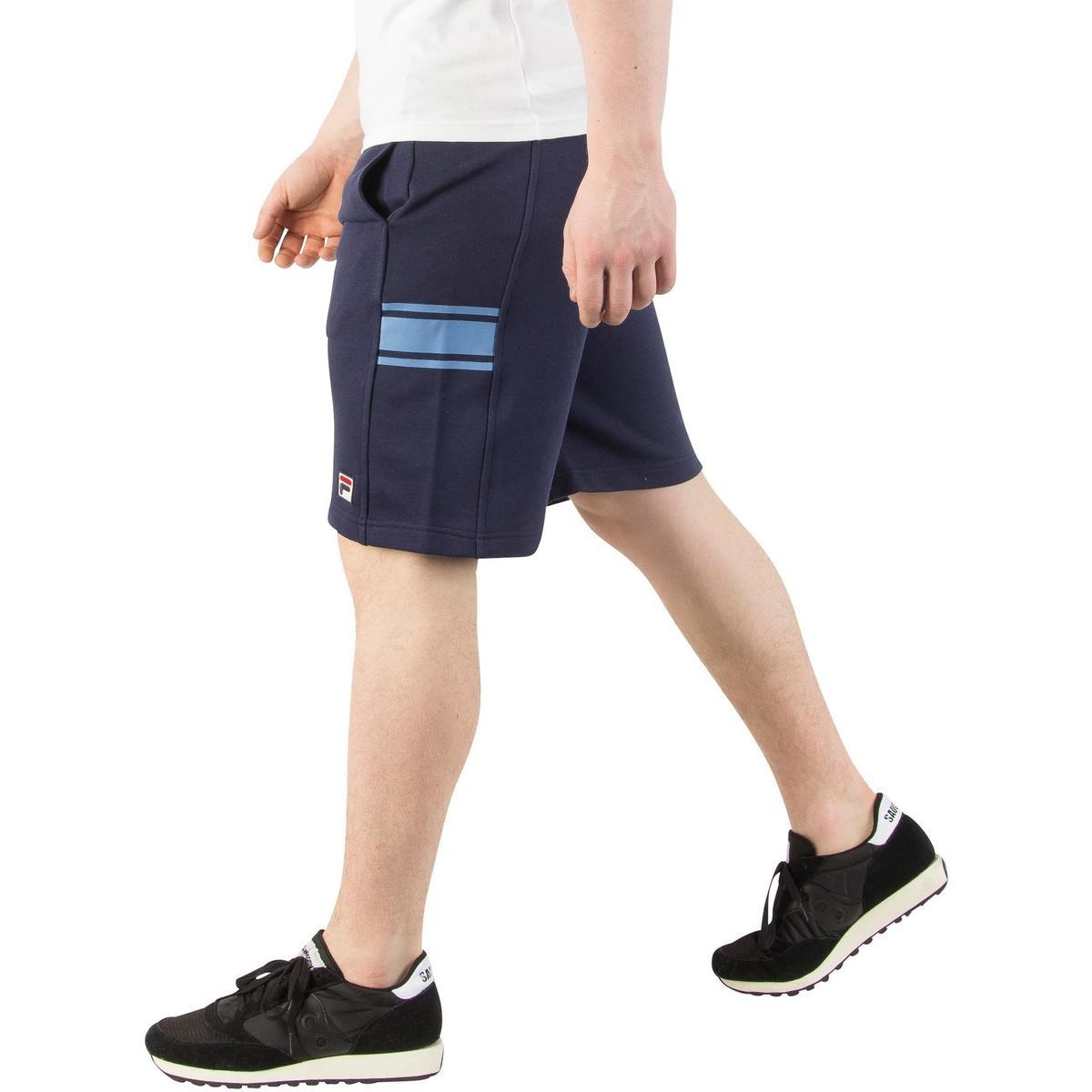 Fila Men's Mivvi Panelled Sweat Shorts, Blue Men's Shorts In