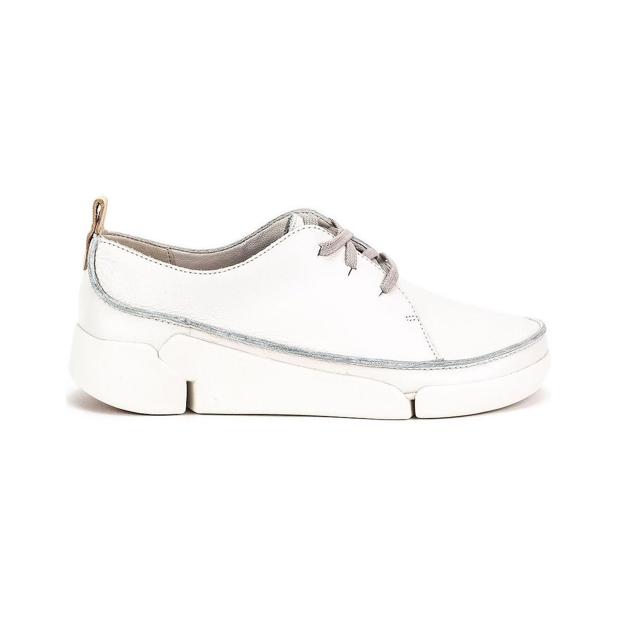 7bcaf76c908 Clarks Tri Clara Women s Loafers   Casual Shoes In White in White - Lyst