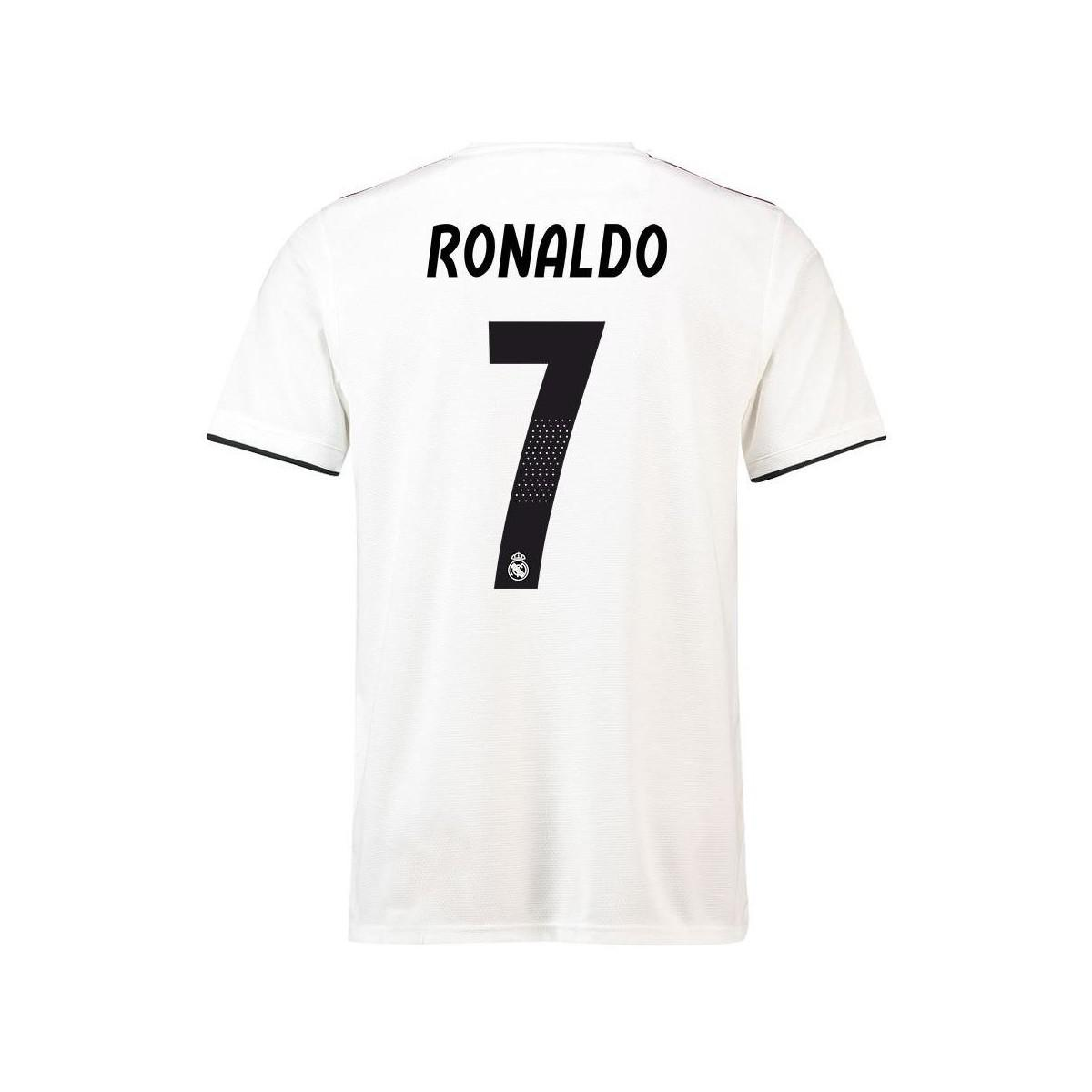571f42d6 adidas 2018-19 Real Madrid Home Football Shirt (ronaldo 7) Men's T ...