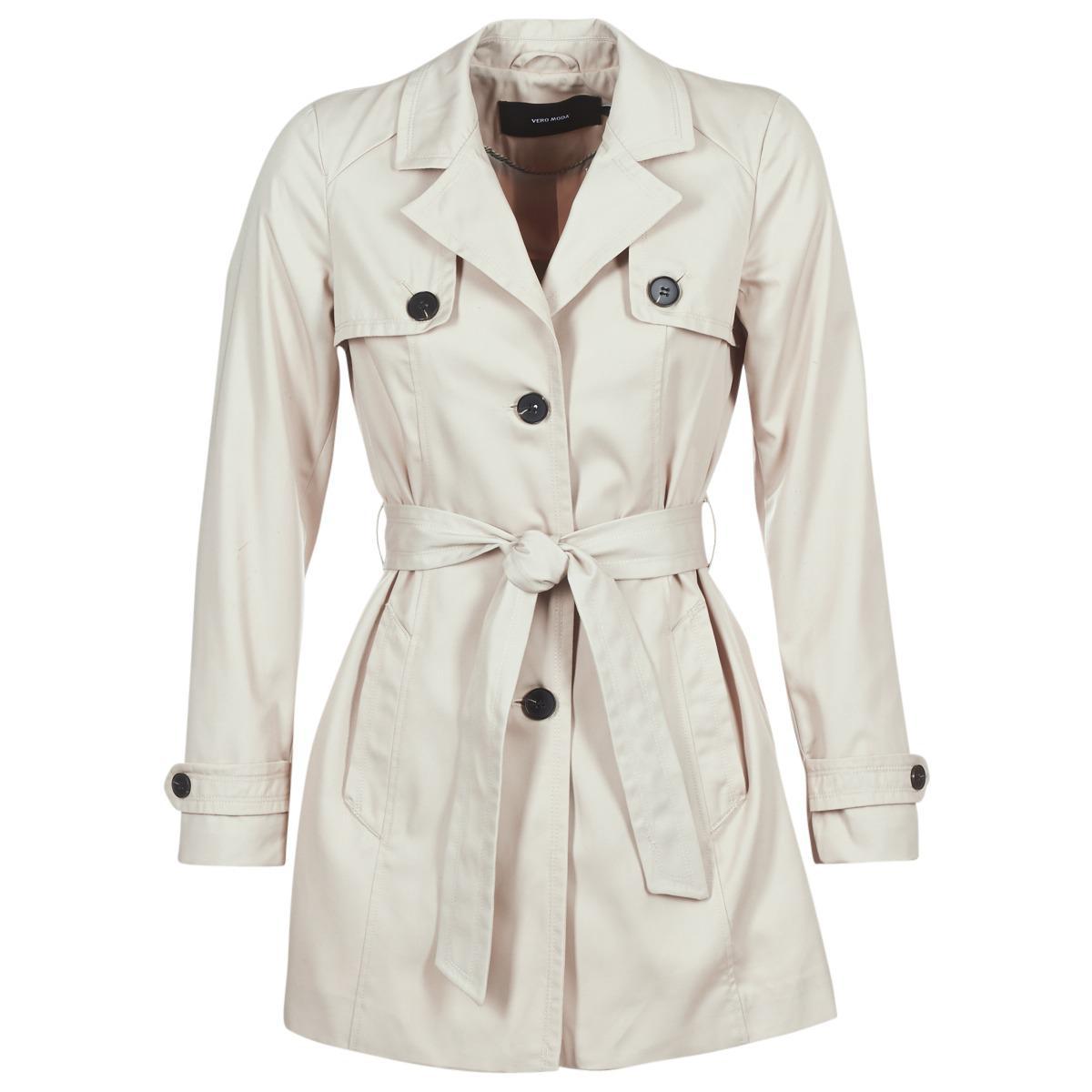 Vero Moda - Natural Vmgo Abby Women s Trench Coat In Beige - Lyst. View  fullscreen e839ecea5d