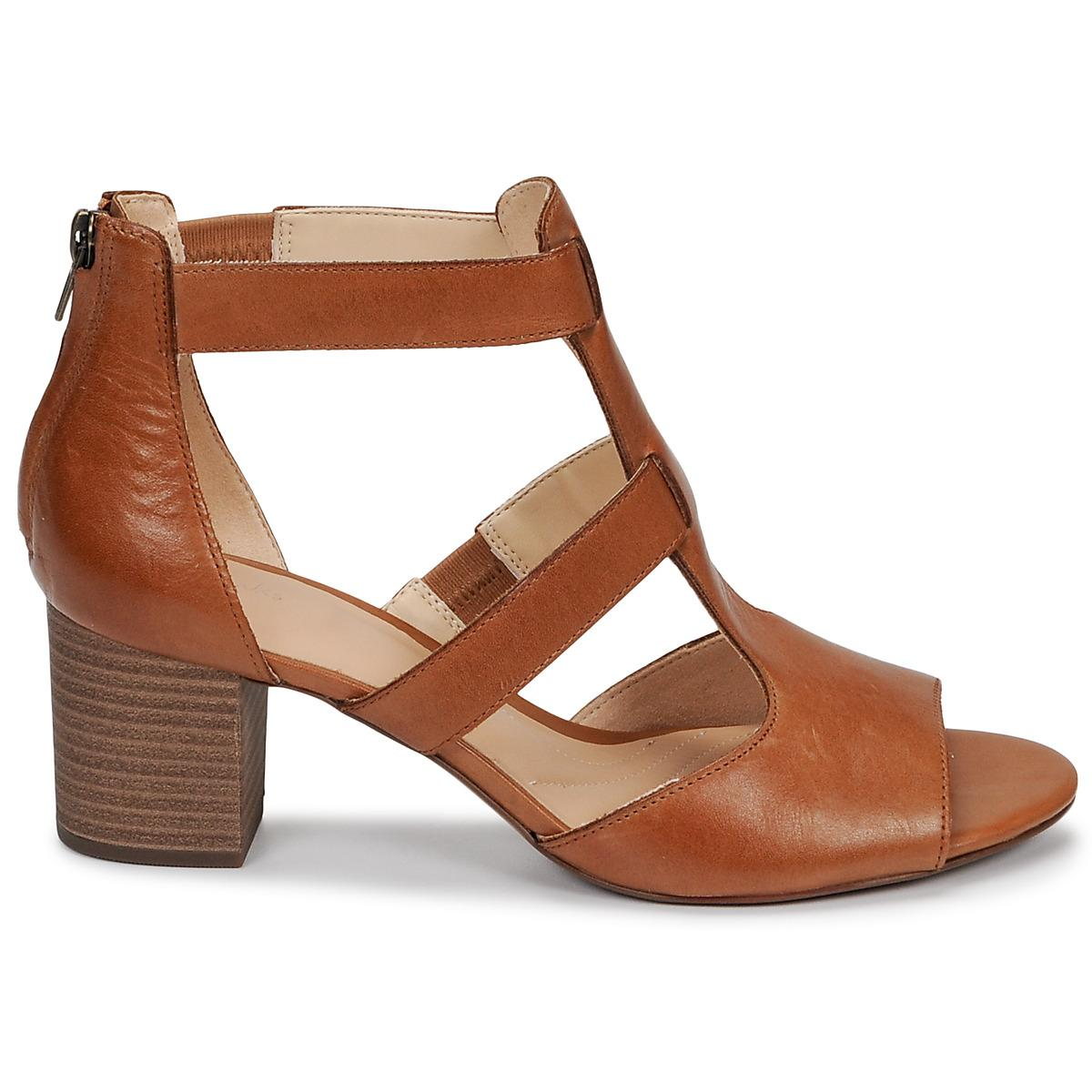 f856026d40 ... Clarks - Deloria Fae Women's Sandals In Brown - Lyst. Visit Spartoo.  Tap to visit site