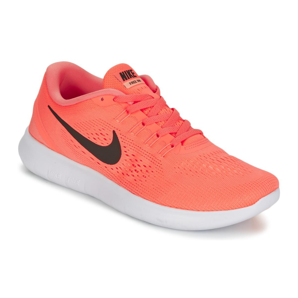 f7635ca3dafa Nike Free Run W Women s Running Trainers In Orange in Orange - Lyst
