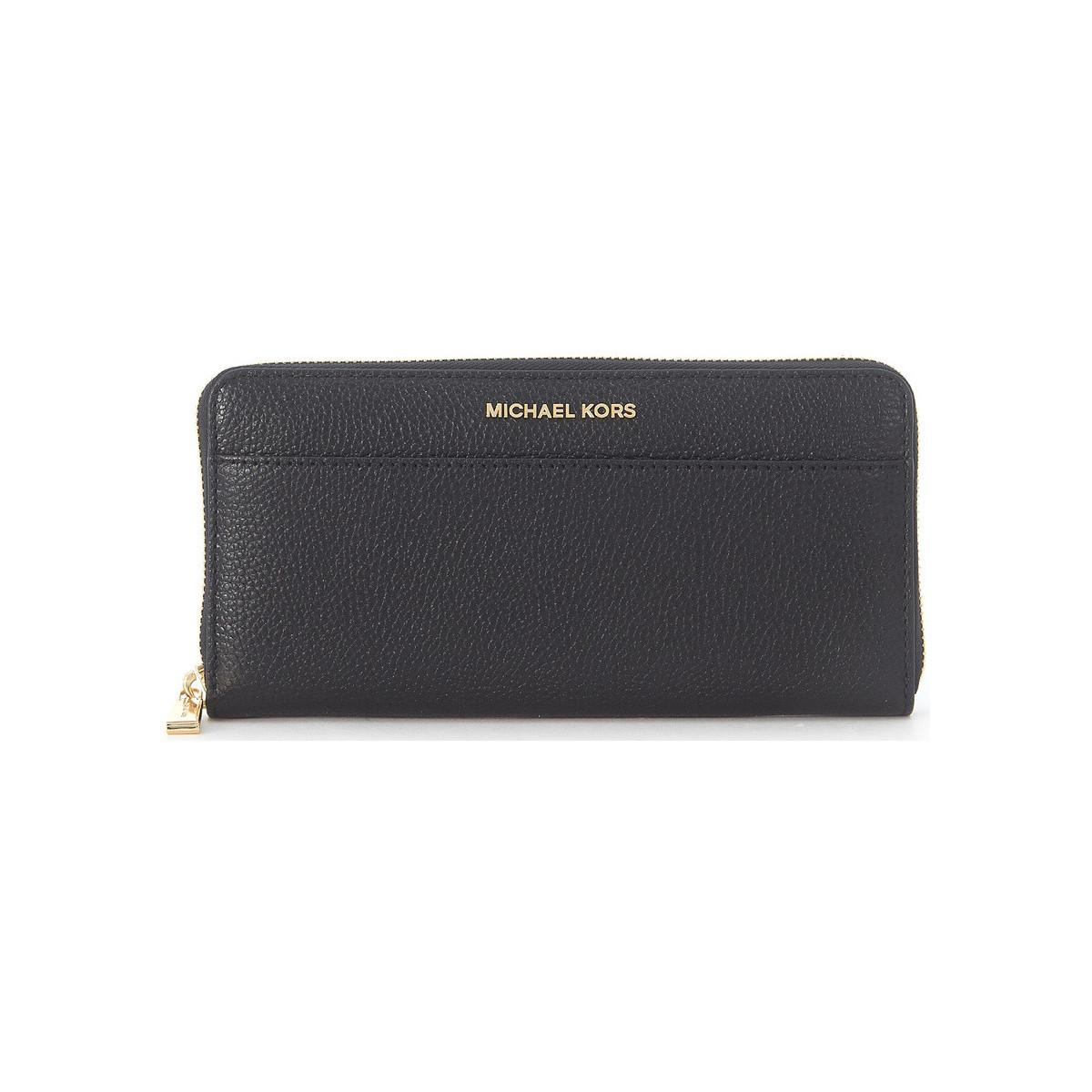 3a54d8b20b17 MICHAEL Michael Kors. Mercer Black Saffiano Leather Wallet Women's ...