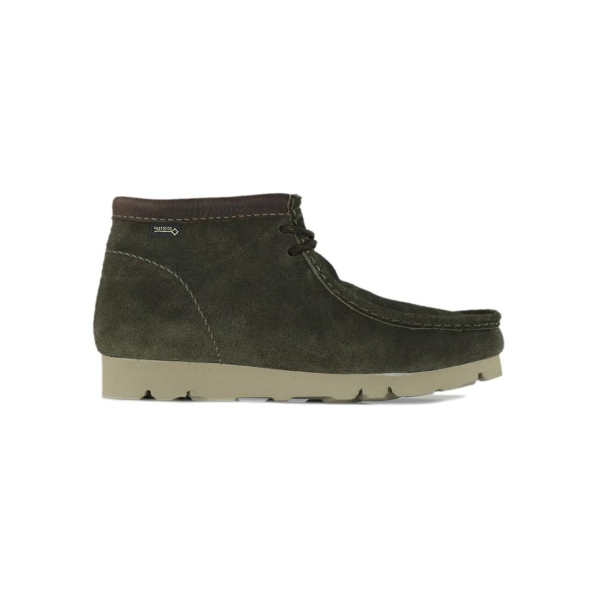216583fbe80e21 Clarks Wallabee Bt Gtx Peat Suede Men s Mid Boots In Brown in Brown ...