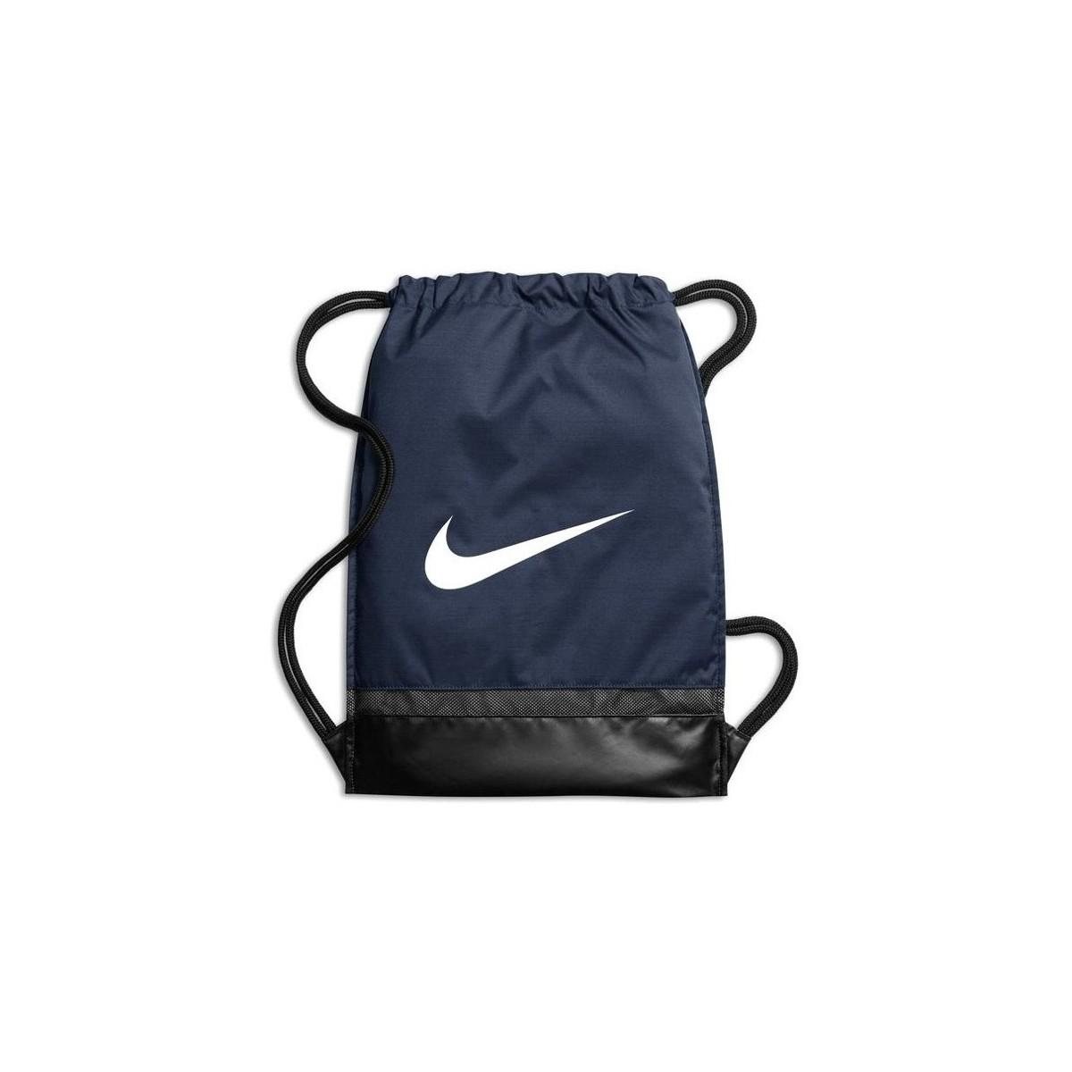 8190164ef3a6c6 Nike Brasilia Gymsack Navy Women s Backpack In Yellow in Yellow - Lyst