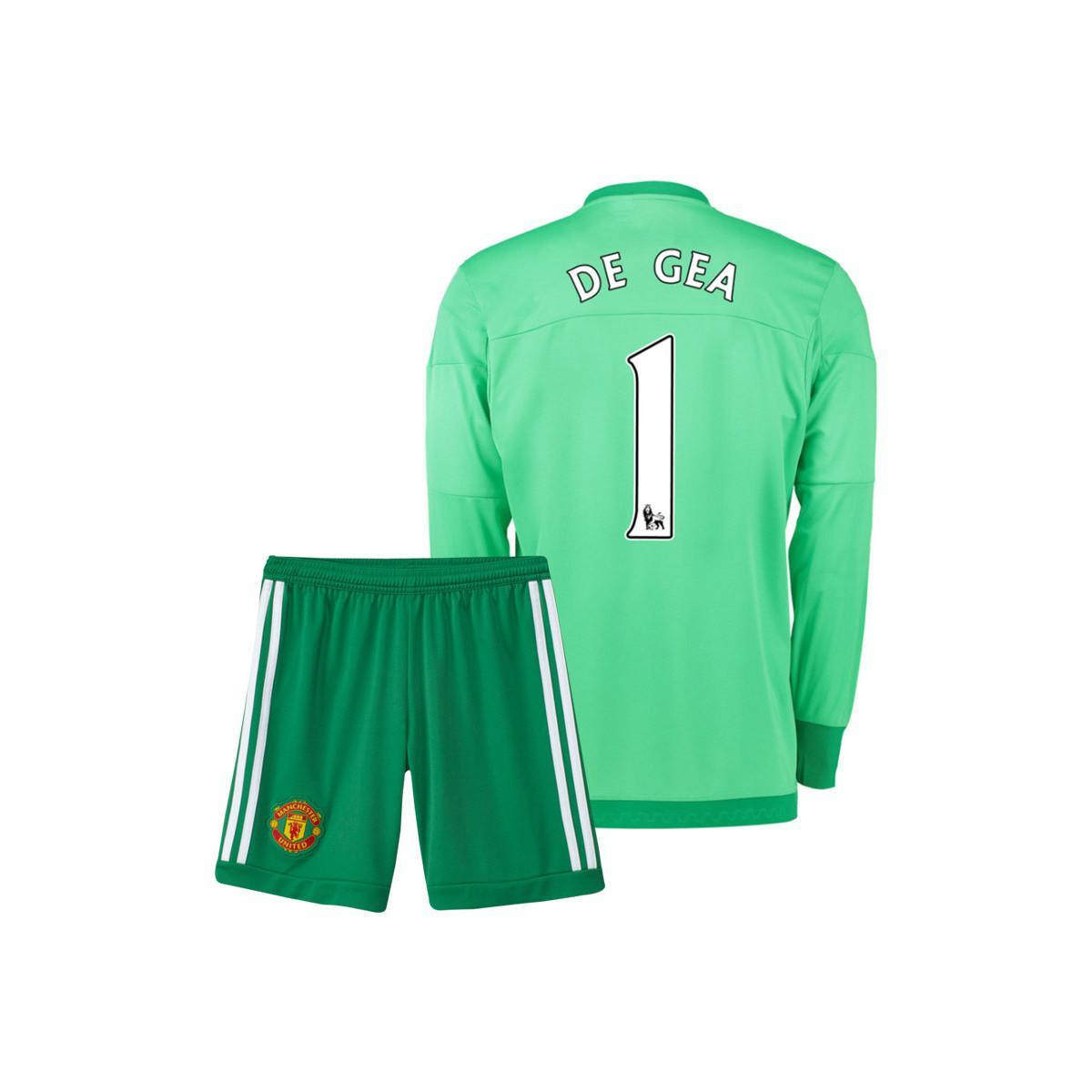 4f758beb6 adidas 2015-16 Manchester United Home Goalkeeper Mini Kit (de Gea 1 ...