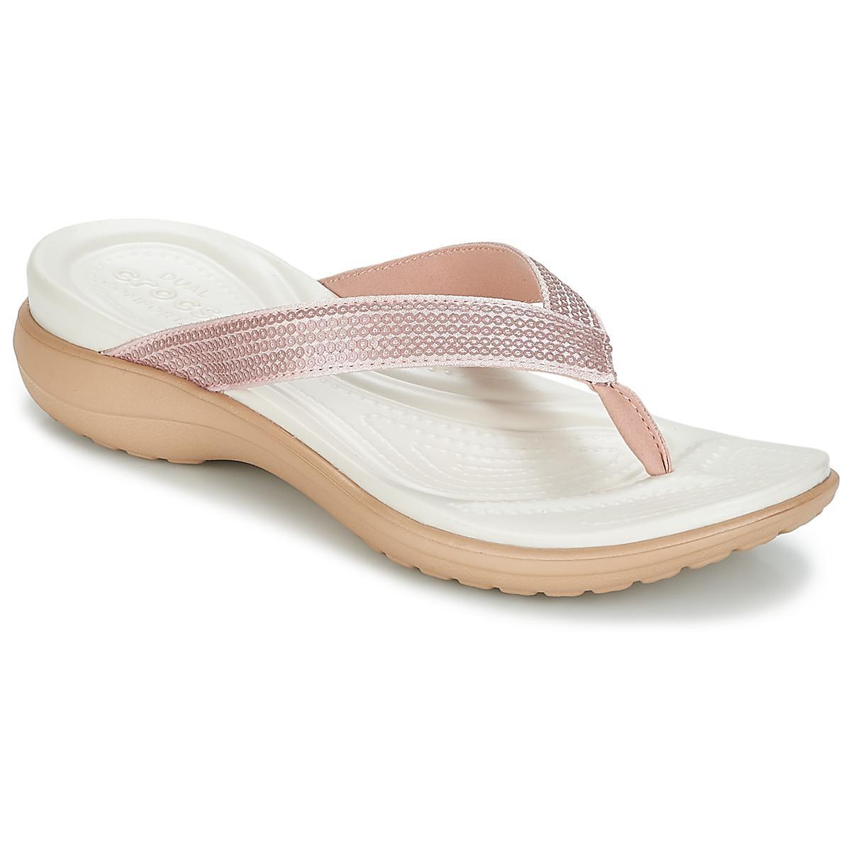 2d81cdb793e371 Crocs™ Capri V Sequin W Women s Sandals In Multicolour - Lyst