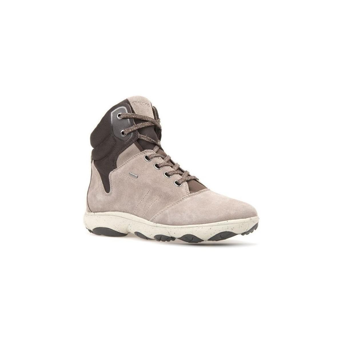 d7b3ae9042971 Geox D Nebula 4x4 B Abx A Women's Shoes (high-top Trainers) In Beige ...