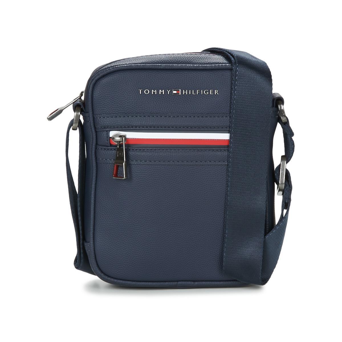 Tommy Hilfiger Essential Mini Reporter Ii Men s Pouch In Blue in ... 9662e8cc8e47c