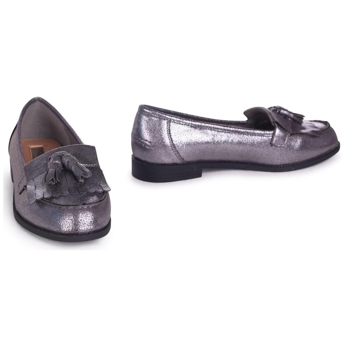 b09f4955281 Linzi - Metallic Rosemary Women s Loafers   Casual Shoes In Silver - Lyst.  View fullscreen