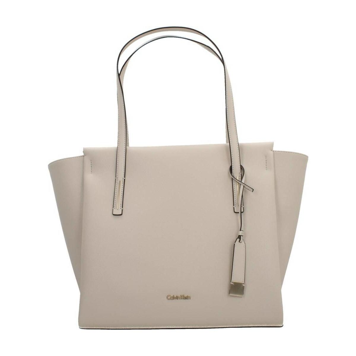 Calvin Klein FRAME LARGE - Shopping Bag - grey