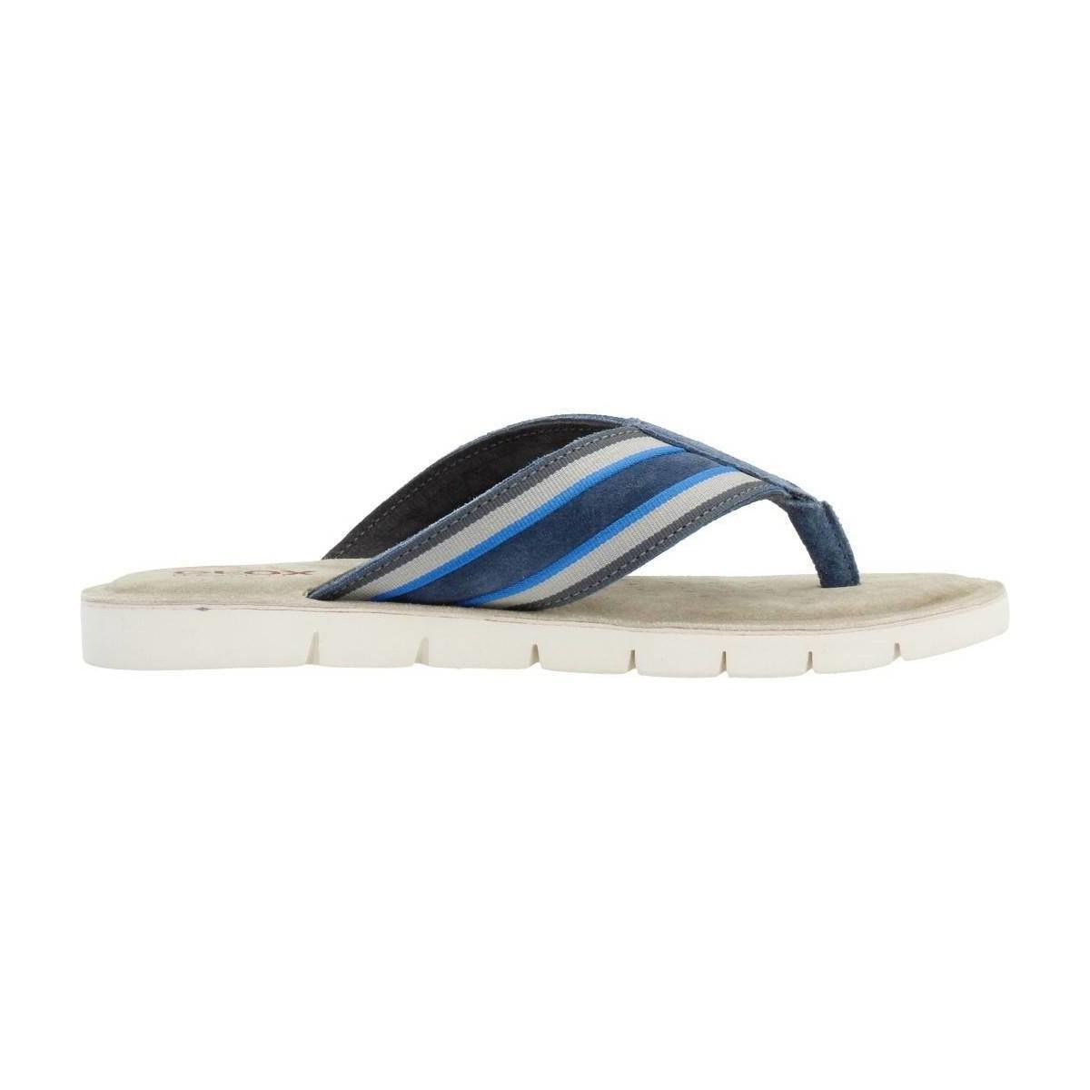 efd7995c65 Geox U Glenn Men's Flip Flops / Sandals (shoes) In Blue in Blue for ...