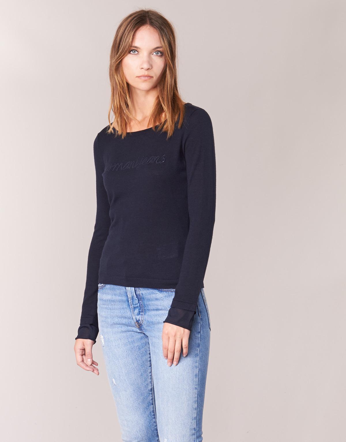 f2d3fb1532 Armani Jeans Jauda Women s Sweater In Blue in Blue - Lyst