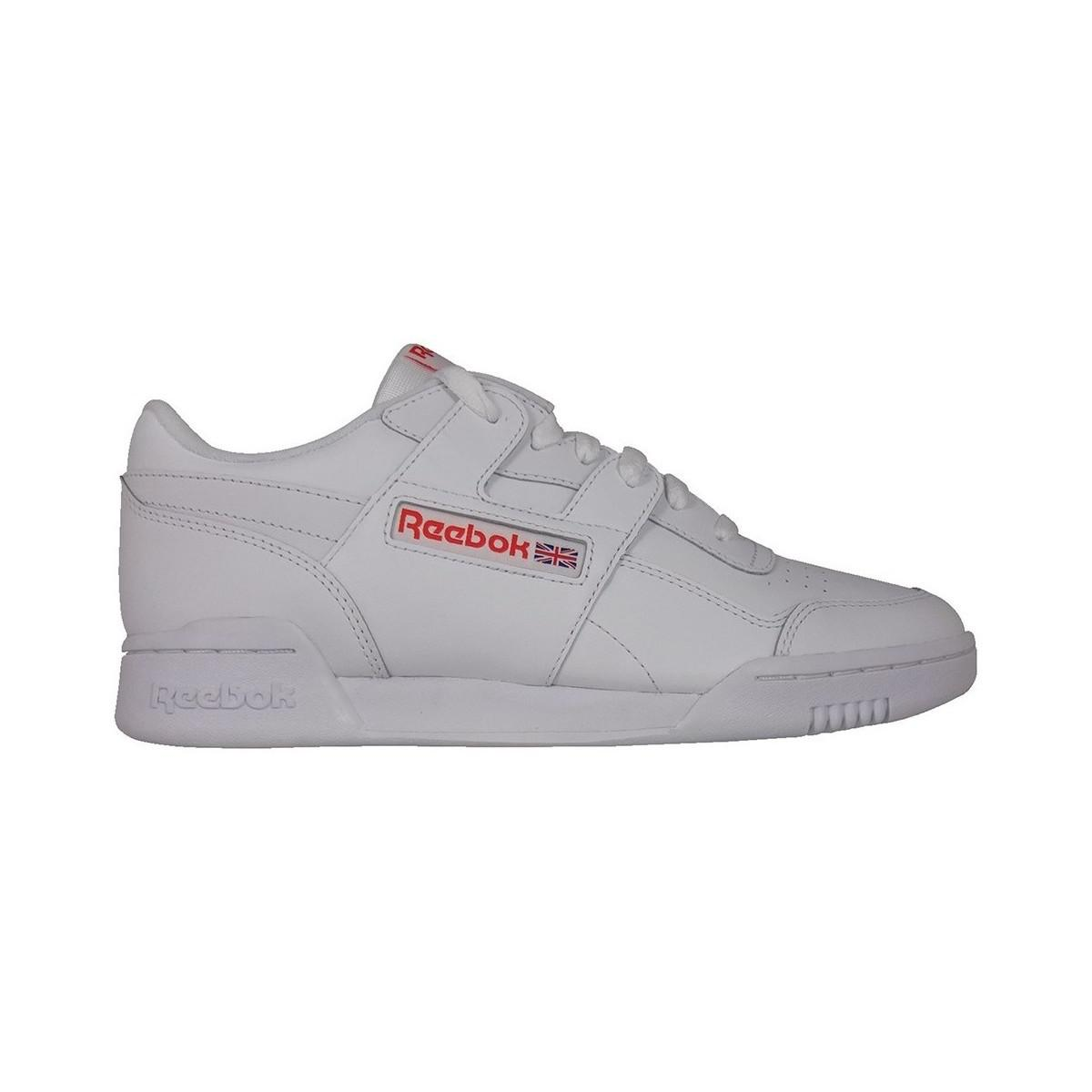 6594bf5a7fc55 Reebok Workout Plus Mu Men s Shoes (trainers) In White in White for ...