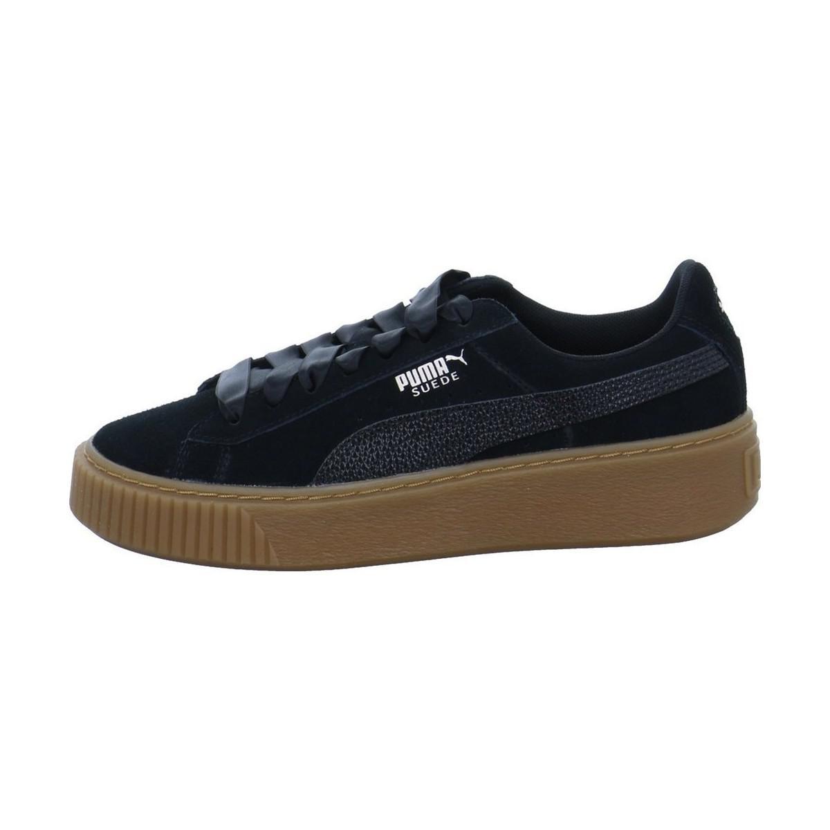 13c423c8620e38 Puma Suede Platform Bubble Wns Women s Shoes (trainers) In Black in ...