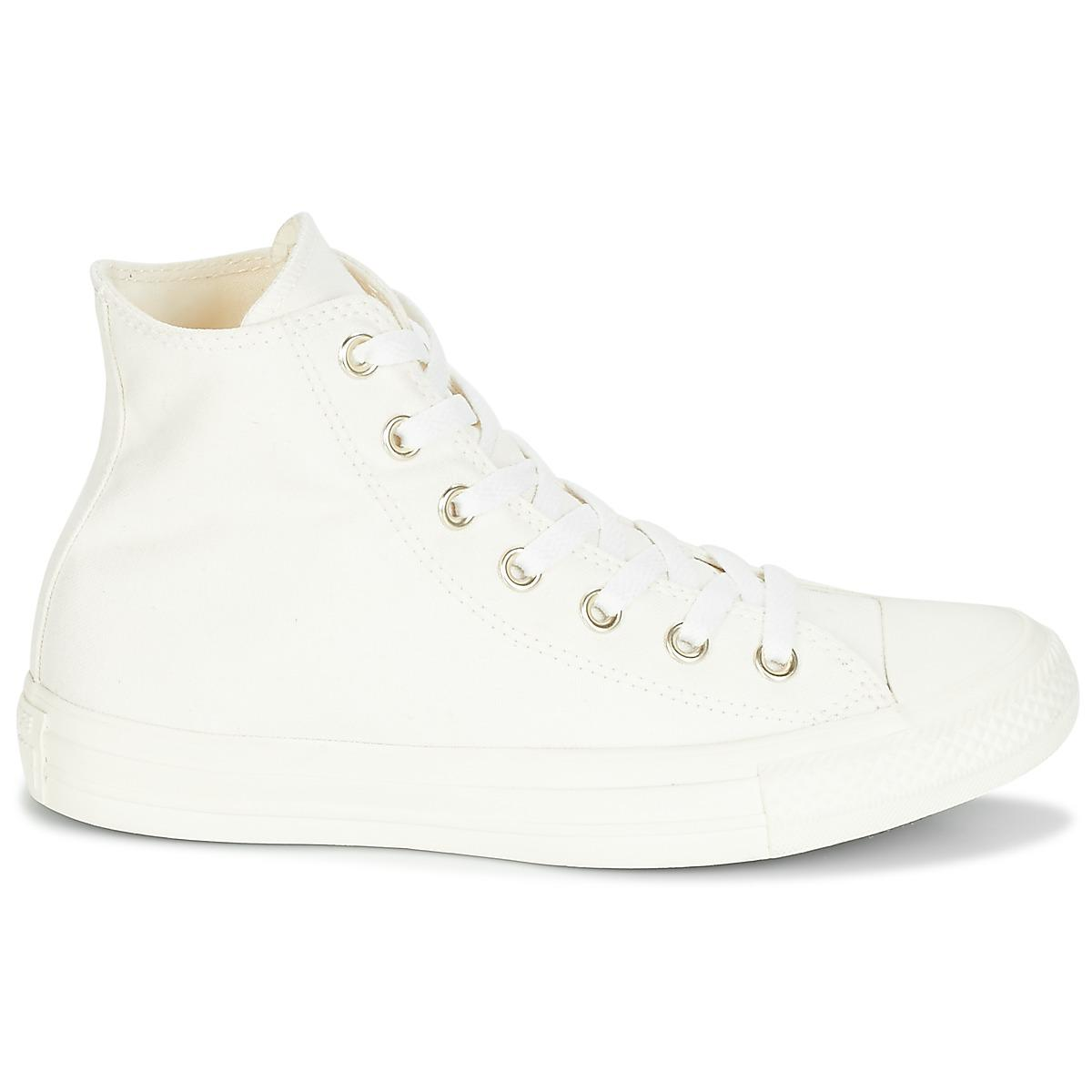 eb215774e9352a Converse - Natural Chuck Taylor All Star Hi Mono Glam Canvas Color Women s  Shoes (high. View fullscreen