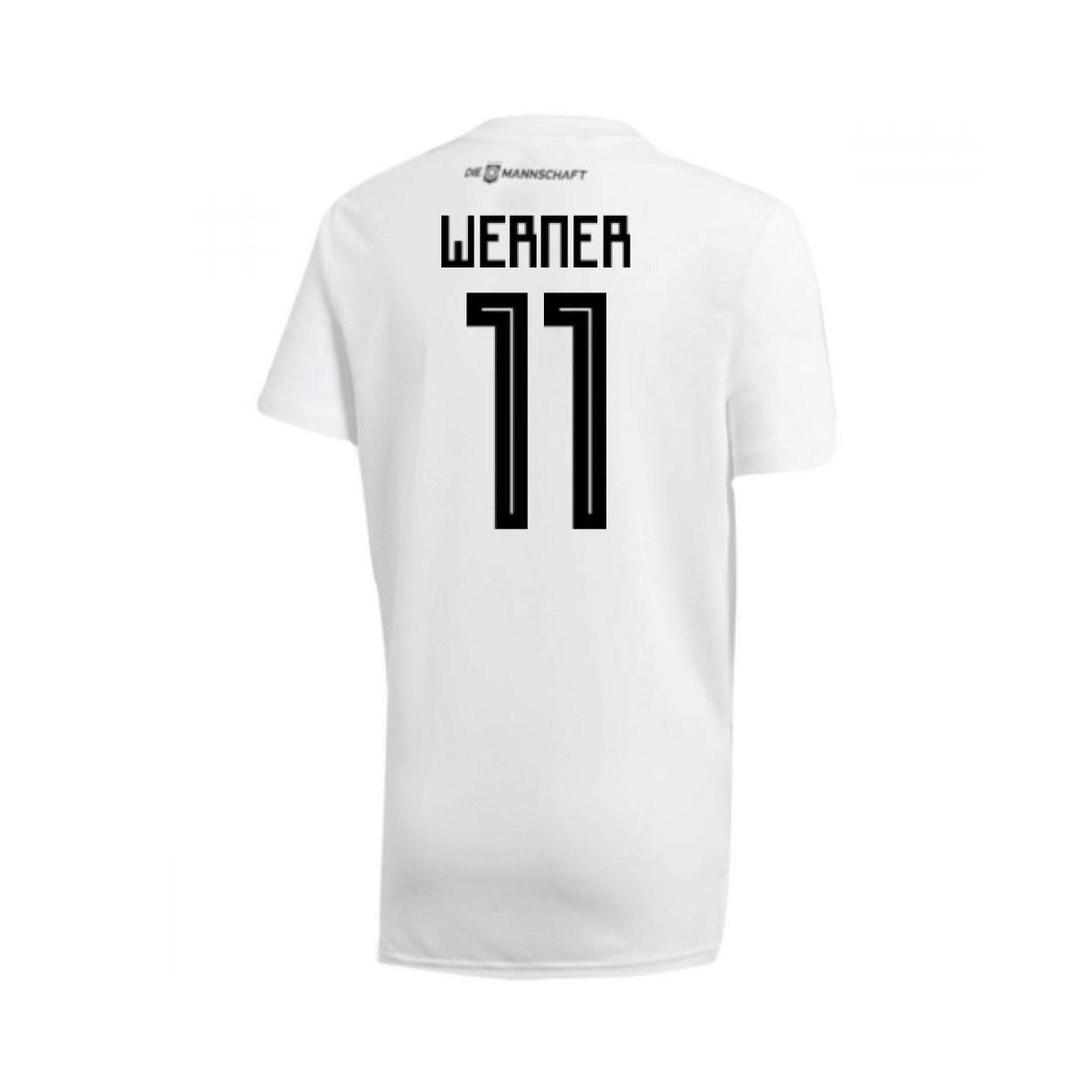 5d889ff1d adidas 2018-19 Germany Home Training Shirt (werner 11) Men s T Shirt ...