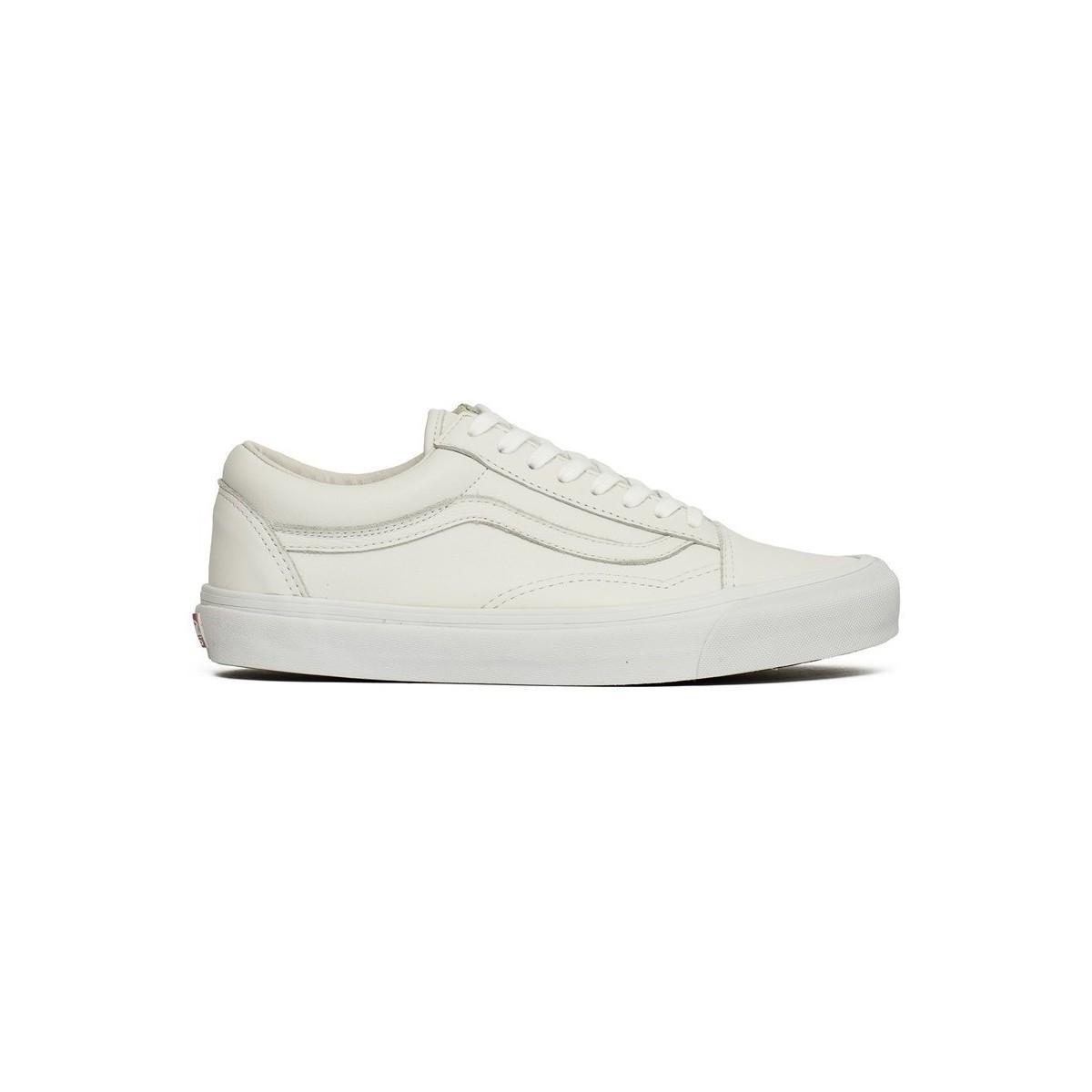 62cf872a76 Vans Vault Og Old Skool Lx Men s Shoes (trainers) In White in White ...