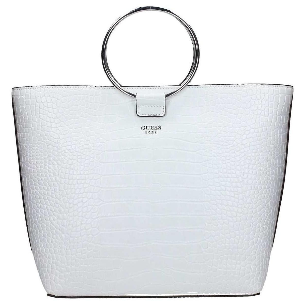 6904054e3653 Guess Hwcr69 58230 Shopping Bag Women s Shopper Bag In White in ...