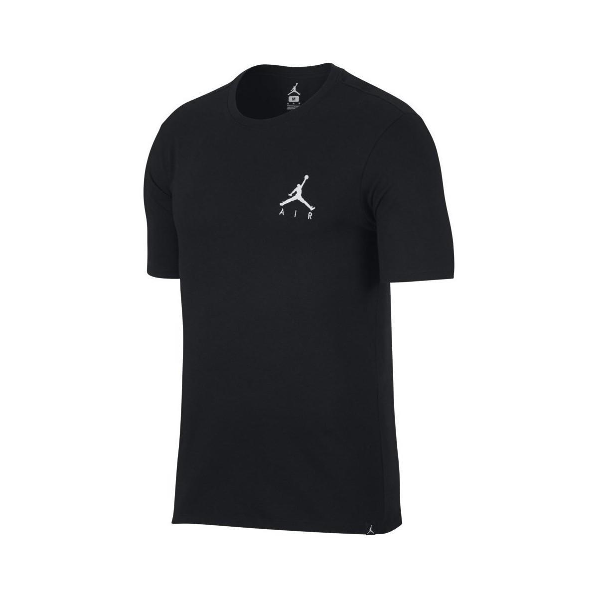 31a56ea52b Nike Air Jordan Jumpman Embroidered Tee Men's T Shirt In Black in ...