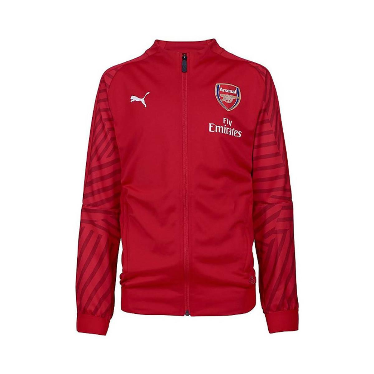 a703e3c7 PUMA 2018-2019 Arsenal Stadium Jacket (chilli Pepper) - Kids Women's ...