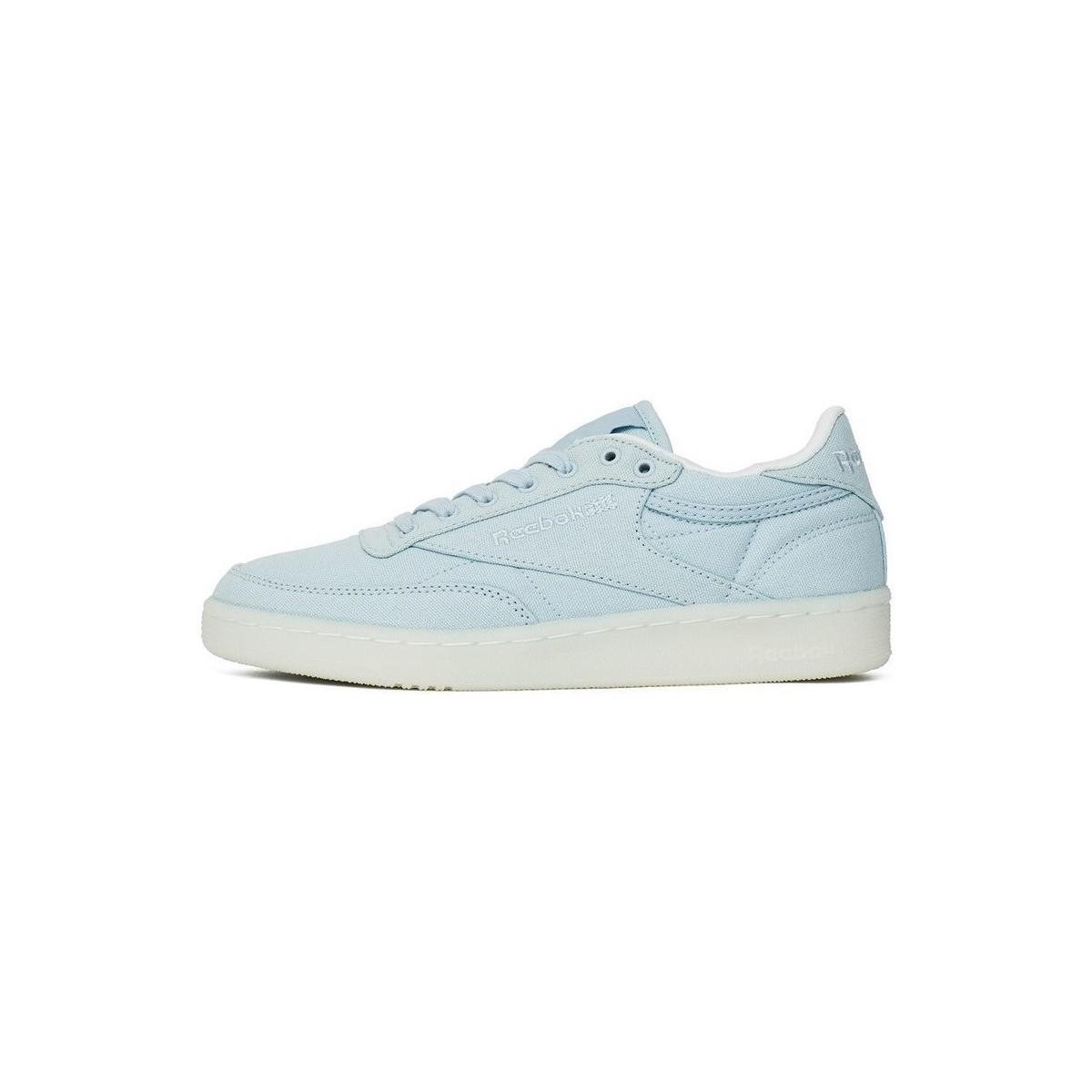 de5cb609d00a6 Reebok Club C 85 Canvas Zee Blue Women s Shoes (trainers) In White ...