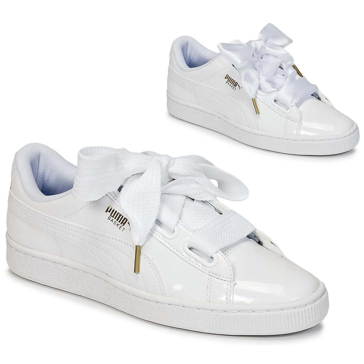eef5c9808c2 PUMA Basket Heart Patent Wn s Women s Shoes (trainers) In White in ...