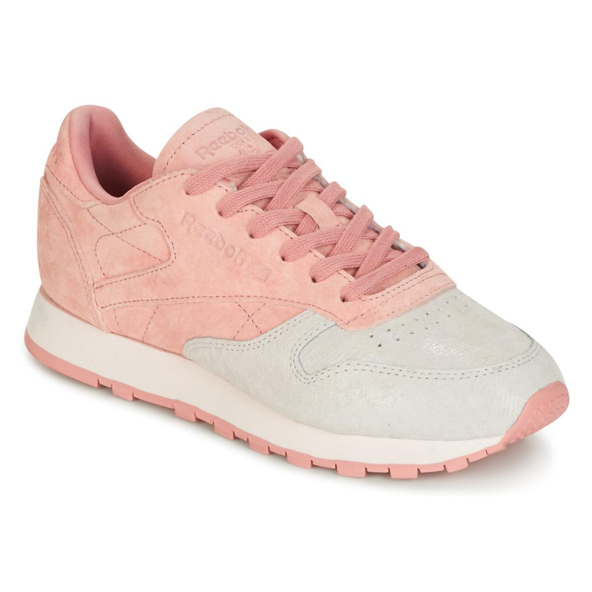 32ce572158de8c Reebok Classic Leather Nbk Shoes (trainers) in Pink - Lyst