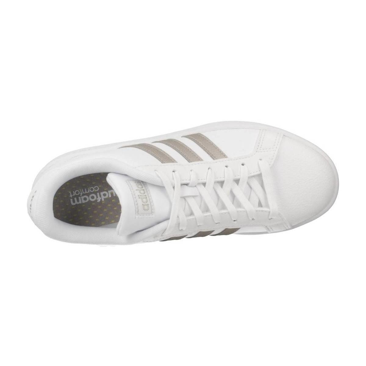 premium selection 56533 96498 adidas Grand Court Women s Shoes (trainers) In White in White - Lyst