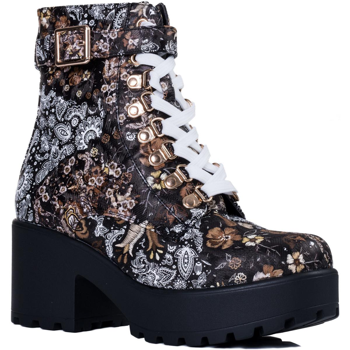 cc0e73a8593 Spylovebuy Viciouser Women's Low Ankle Boots In Brown in Brown - Lyst