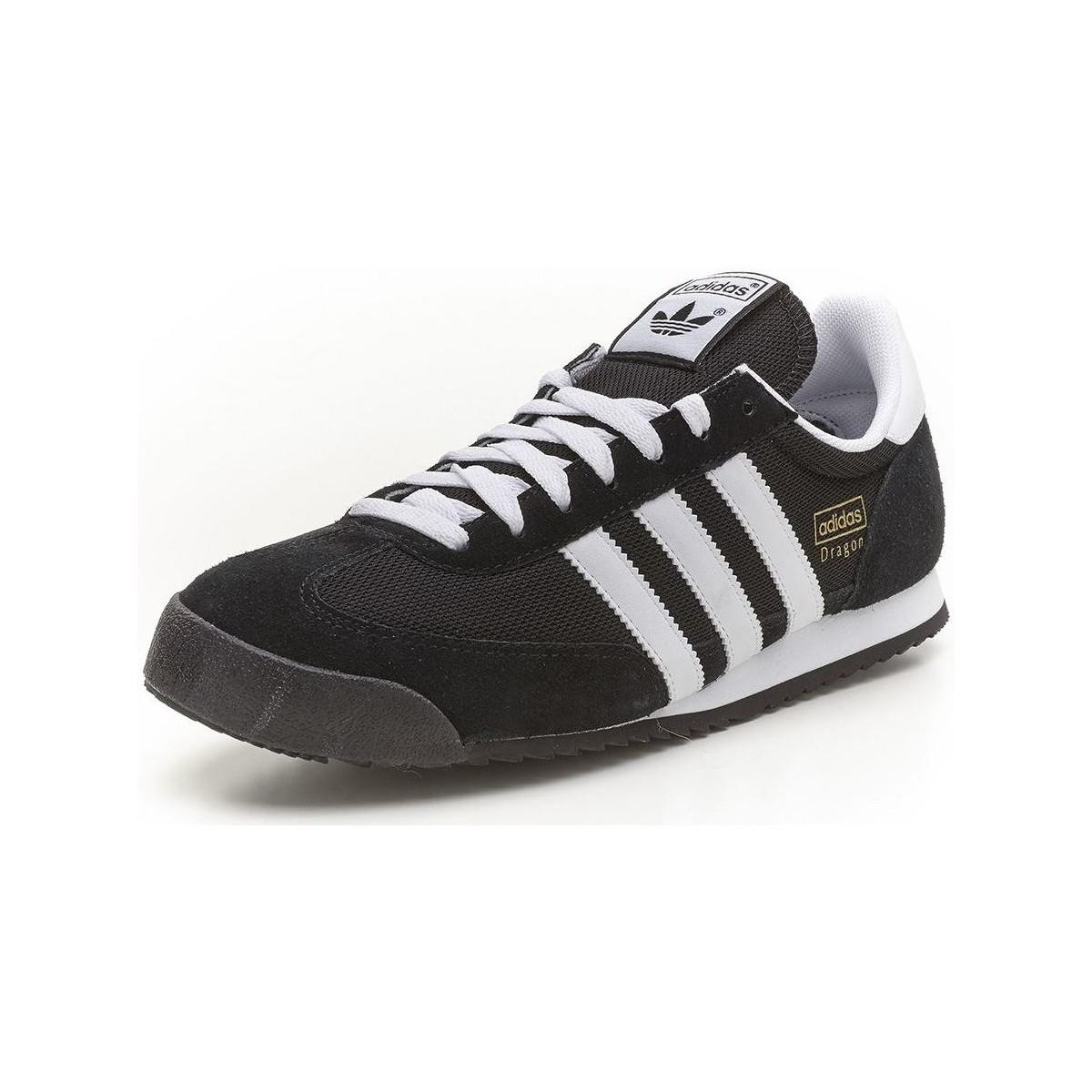 Adidas  Originals Dragon Retro Trainers Black White G16025 Mens Shoes  trainers In Black  View Fullscreen