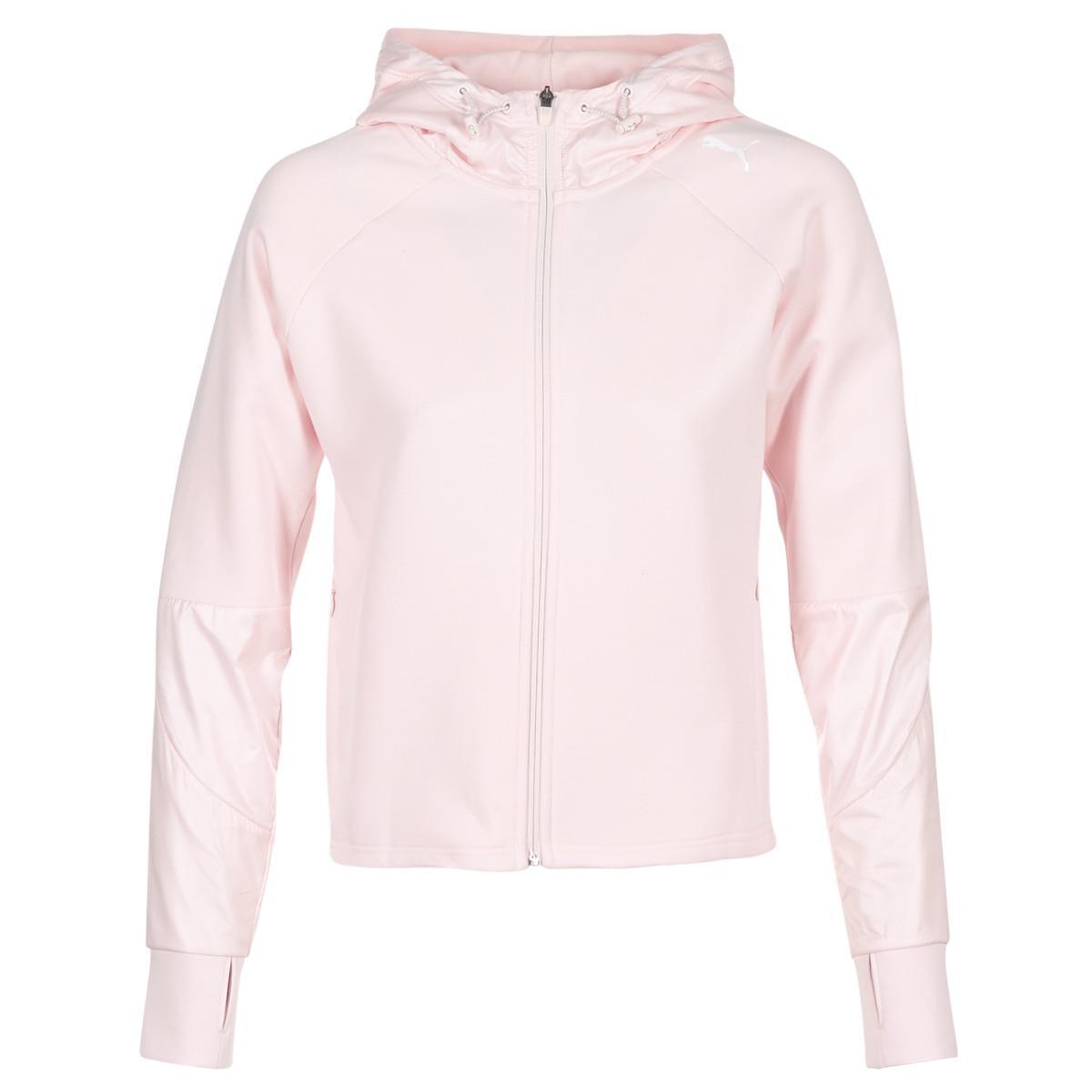 0b91c1d5be8e PUMA Evostripe Fz Jacket Women s Sweatshirt In Pink in Pink - Lyst