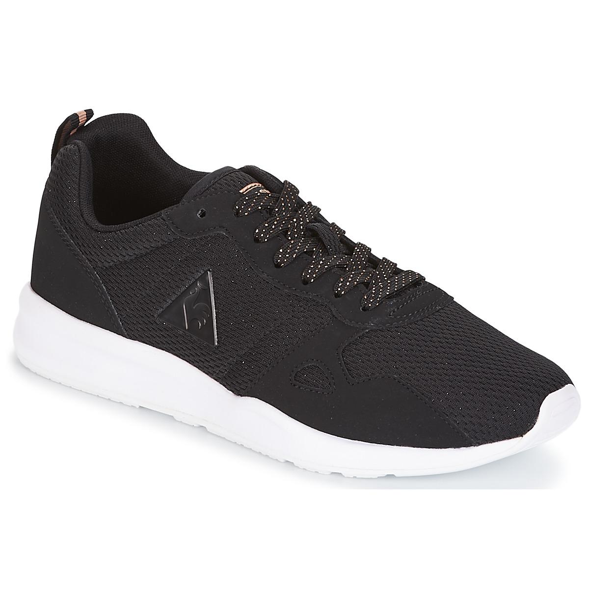 new concept 19d86 a79fd le-coq-sportif-black-Lcs-R600-W-Metallic-Meshs-Nubuck-Womens-Shoes -trainers-In-Black.jpeg